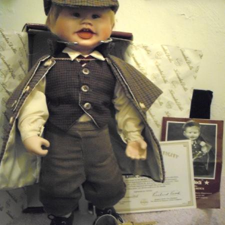 Little Sherlock Porcelain Doll